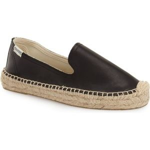 Soludos Leather Smoking Espadrille Loafer
